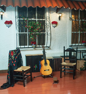 The Andalucian Patio at El Mundo Flamenco