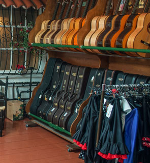 Guitar Racks at El Mundo Flamenco